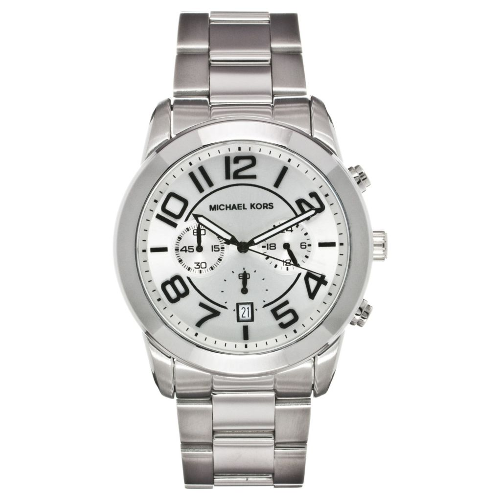 624-642 - Michael Kors Men's Mercer Quartz Chronograph Stainless Steel Bracelet Watch