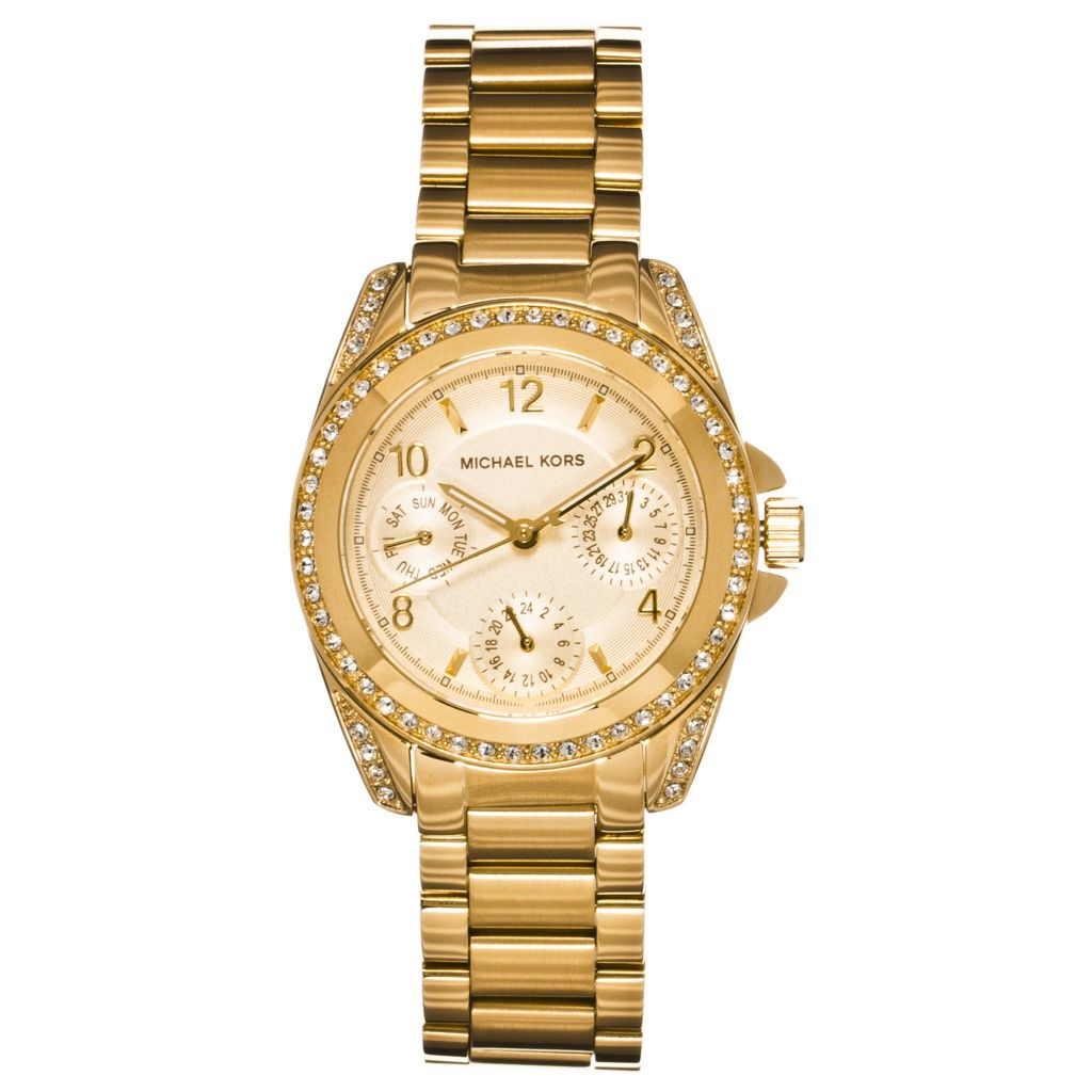 624-654 - Michael Kors Women's Mini Blair Quartz Multifunction Stainless Steel Bracelet Watch