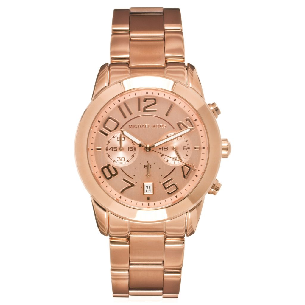 624-663 - Michael Kors Women's Mercer Quartz Chronograph Stainless Bracelet Watch