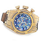 624-675 - Invicta Reserve 52mm Bolt Zeus Empire Swiss Made Chronograph Strap Watch w/ Eight-Slot Dive Case