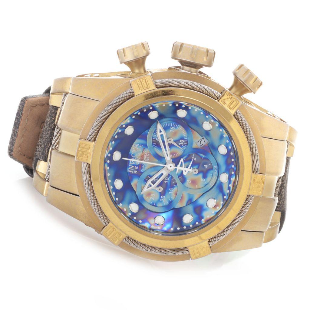 624-675 - Invicta Reserve 52mm Bolt Zeus Empire Swiss Made Chronograph Strap Watch w/ Eight-Slot Dive Case