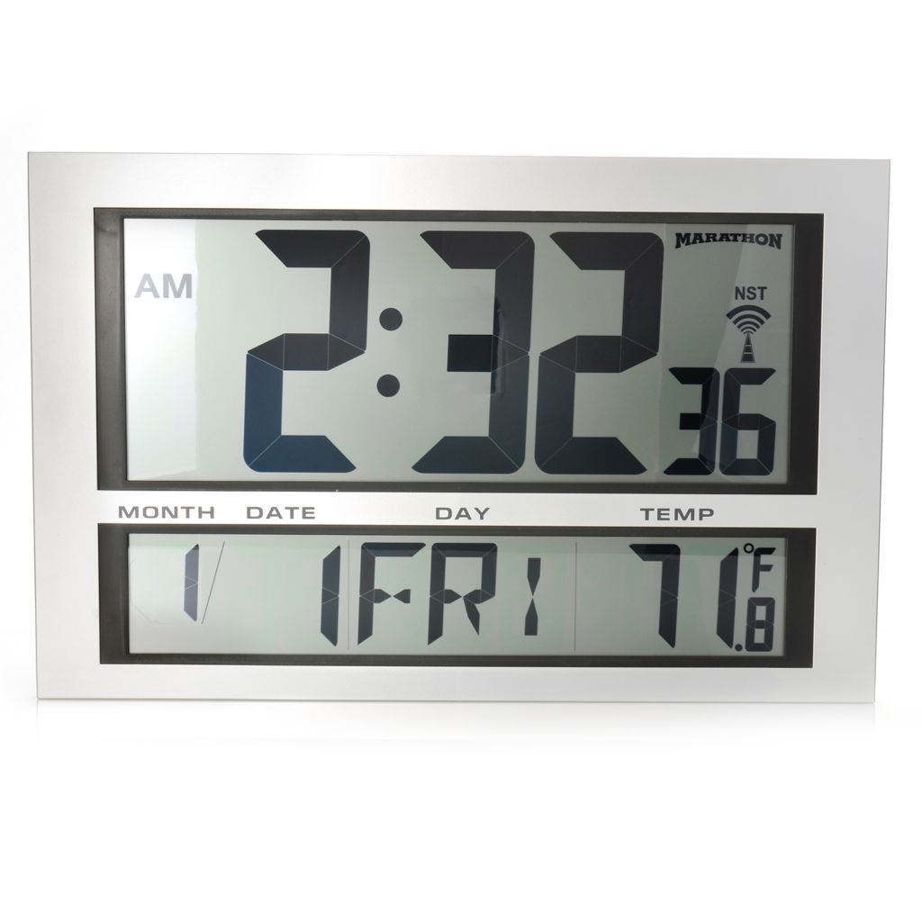 624-711 - Marathon Jumbo Digital Atomic Wall Clock