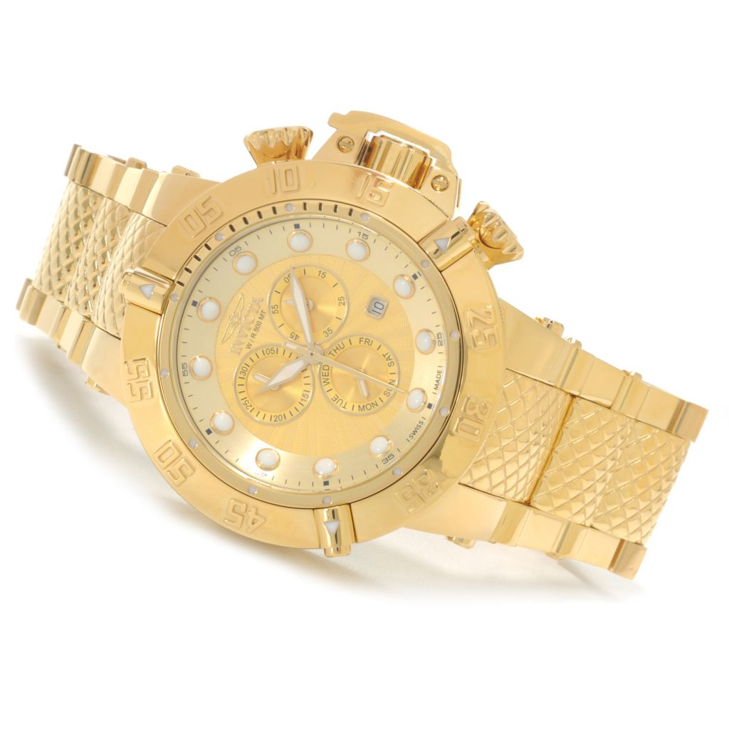 624-723 - Invicta 50mm Subaqua Noma III Swiss Chronograph High Polish Bracelet Watch