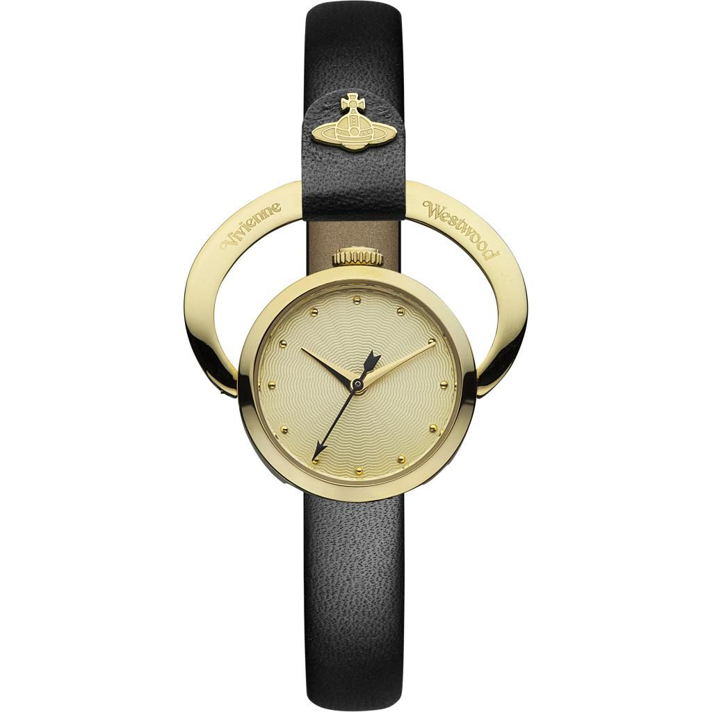 624-740 - Vivienne Westwood Women's Horseshoe Ronda Swiss Quartz Leather Strap Watch