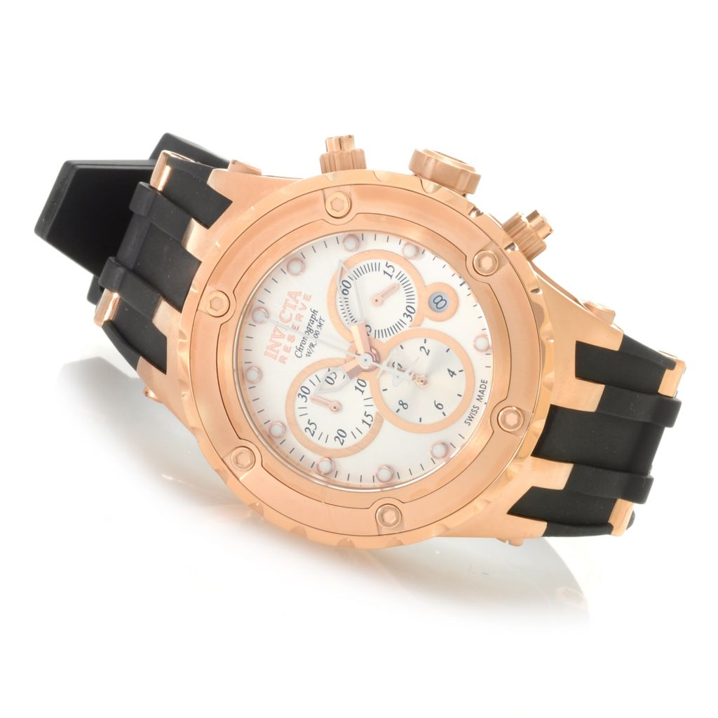 624-788 - Invicta Reserve 44mm Specialty Subaqua Swiss Made Quartz Chronograph Polyurethane Strap Watch