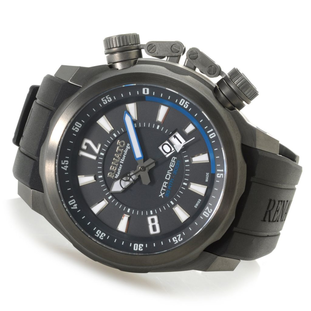 624-792 - Renato Men's XTR Diver Limited Edition Swiss Made Quartz Rubber Strap Watch