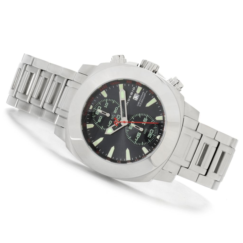 624-795 - Android Men's Parma Two-Eye Vertical Quartz Chronograph Stainless Steel Bracelet Watch