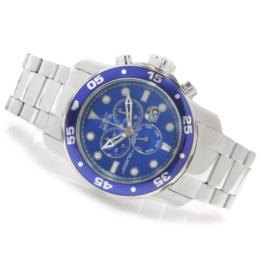 624-798 - Invicta Men's Pro Diver Scuba Quartz Chronograph Bracelet Watch w/ One-Slot Dive Case
