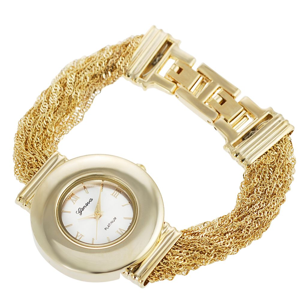 624-811 - Geneva Platinum Women's Quartz Multichain Bracelet Watch
