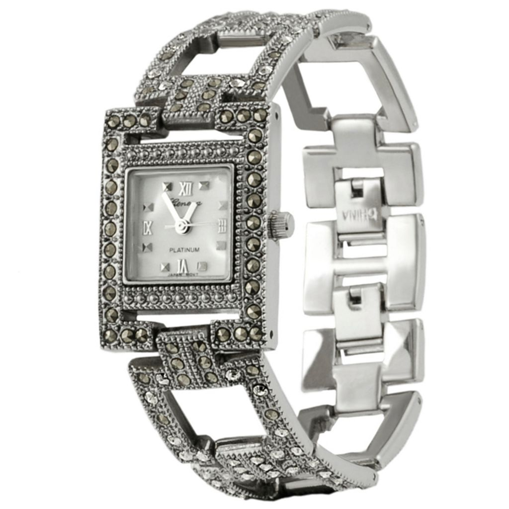 624-814 - Geneva Platinum Women's Quartz Vintage-Style Bracelet Watch