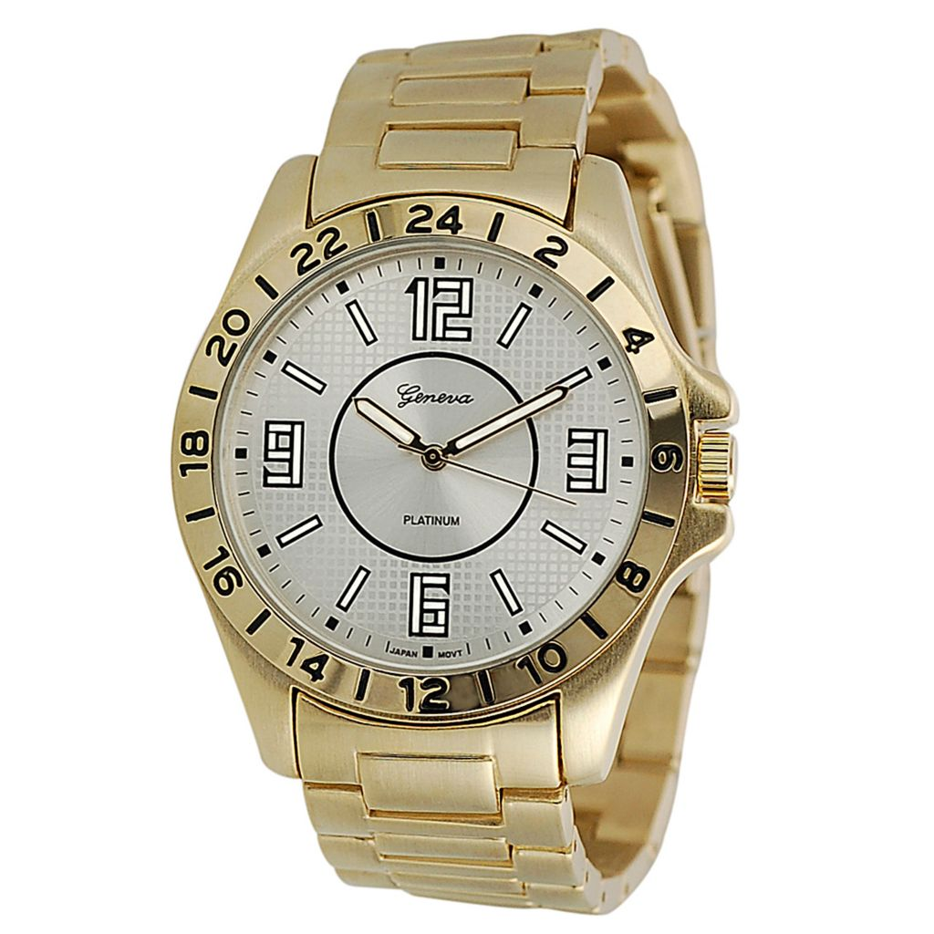 624-822 - Geneva Platinum Men's Quartz Bracelet Watch