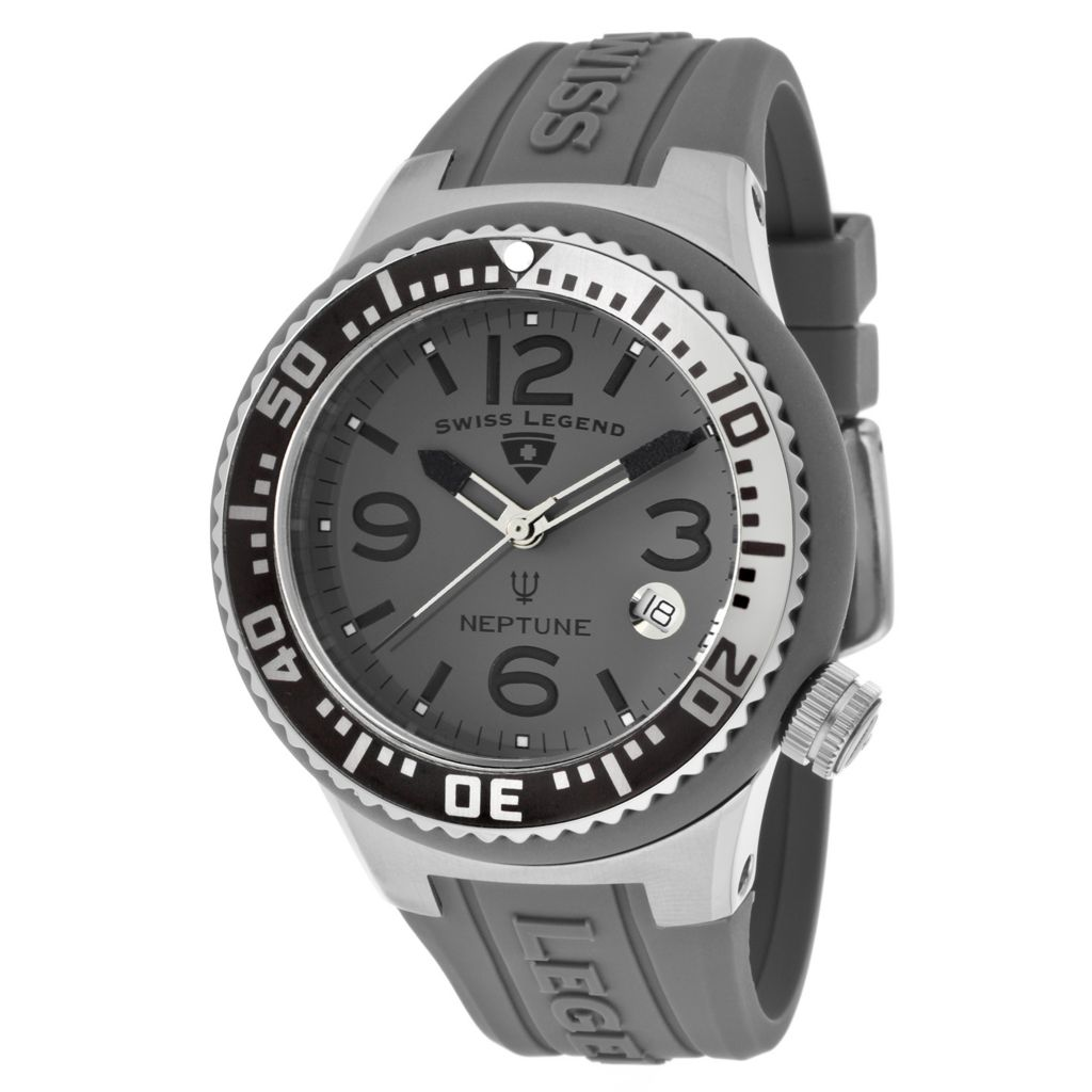 624-840 - Swiss Legend Women's Neptune Quartz Silicone Strap Watch