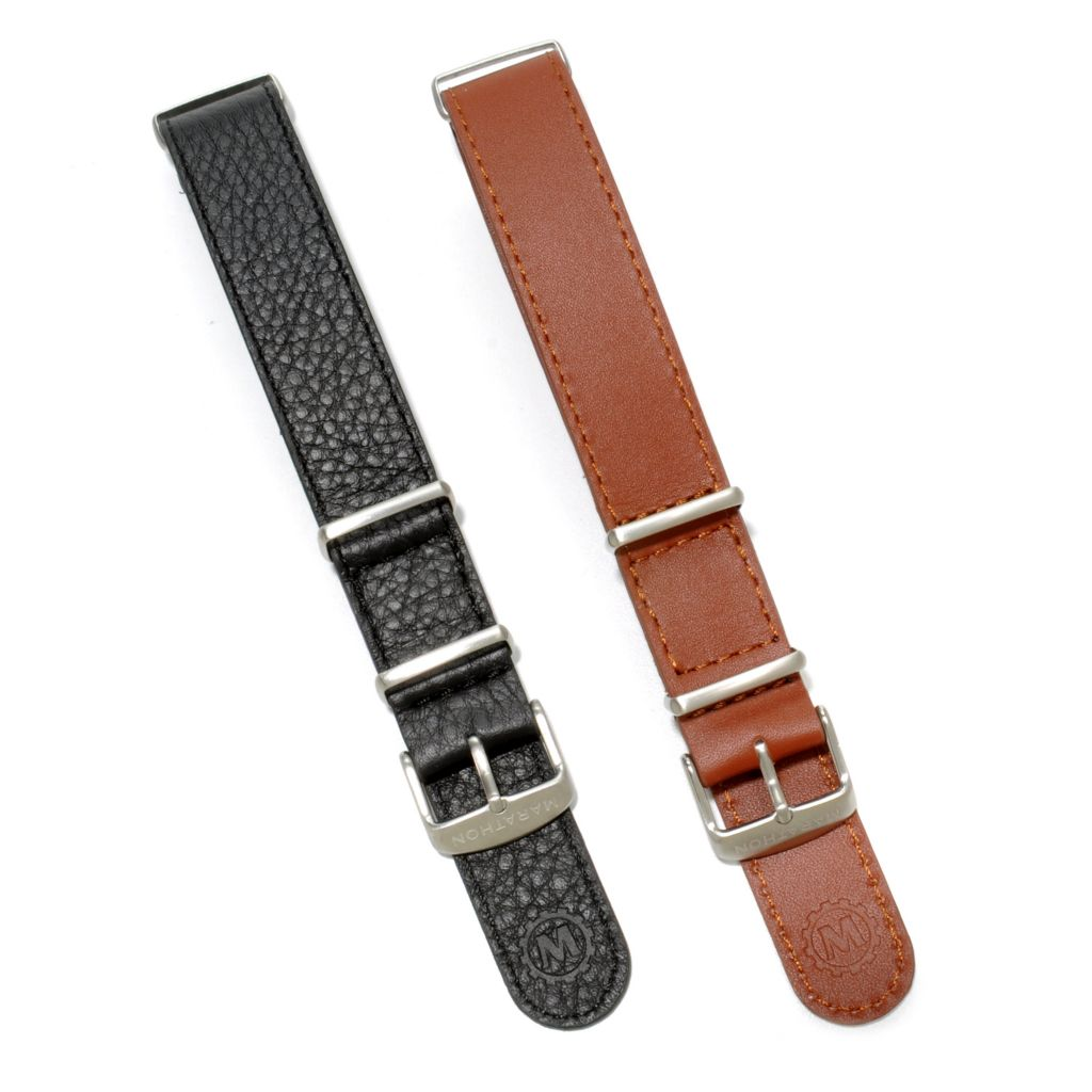 624-881 - Marathon Set of Two 20mm Leather NATO Straps