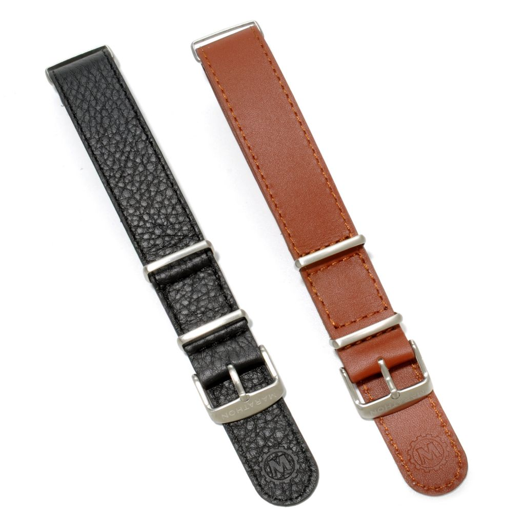 624-882 - Marathon Set of Two 22mm Leather NATO Straps