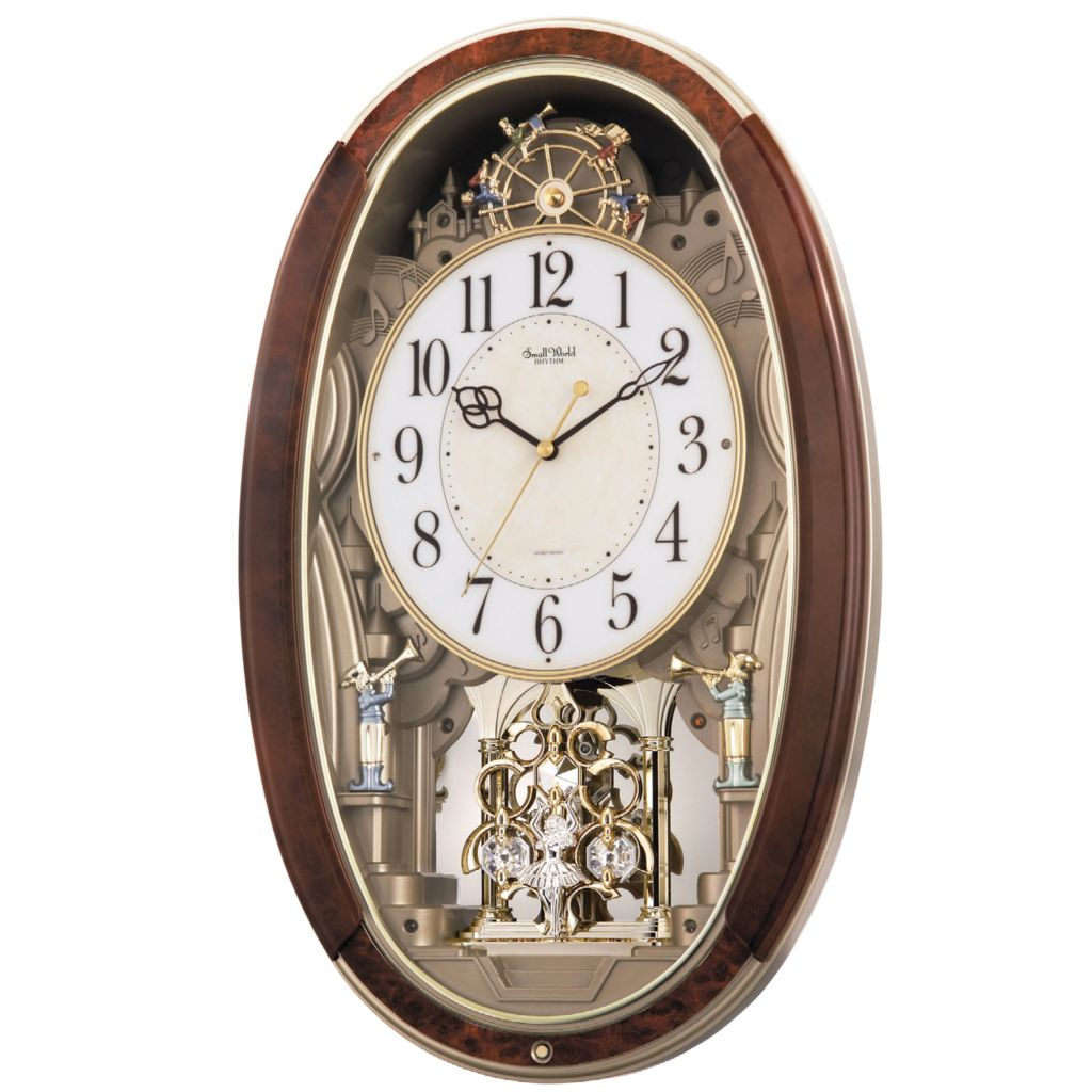 "624-889 - Rhythm® ""Trumpet Boys"" Musical Motion Wall Clock Made w/ Swarovski® Elements"