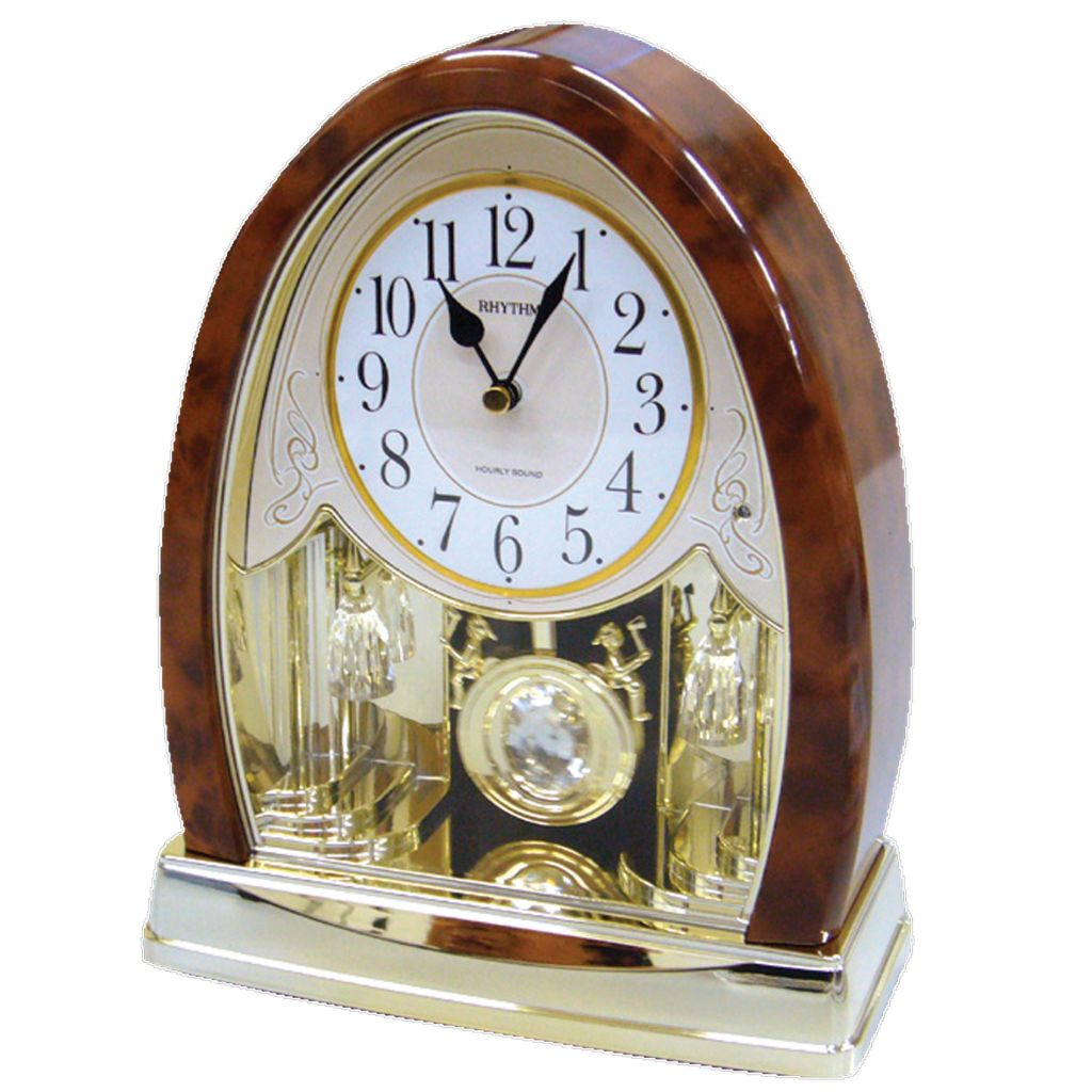 "624-891 - Rhythm® ""Joyful Crystal Bells"" Musical Motion Mantel Clock"