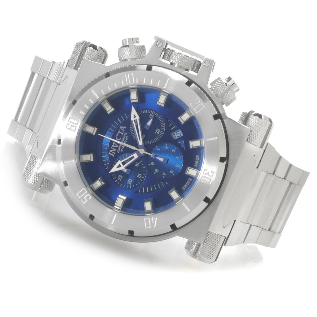 624-969 - Invicta Men's Coalition Forces Swiss Chronograph Bracelet Watch w/ One-Slot Dive Case
