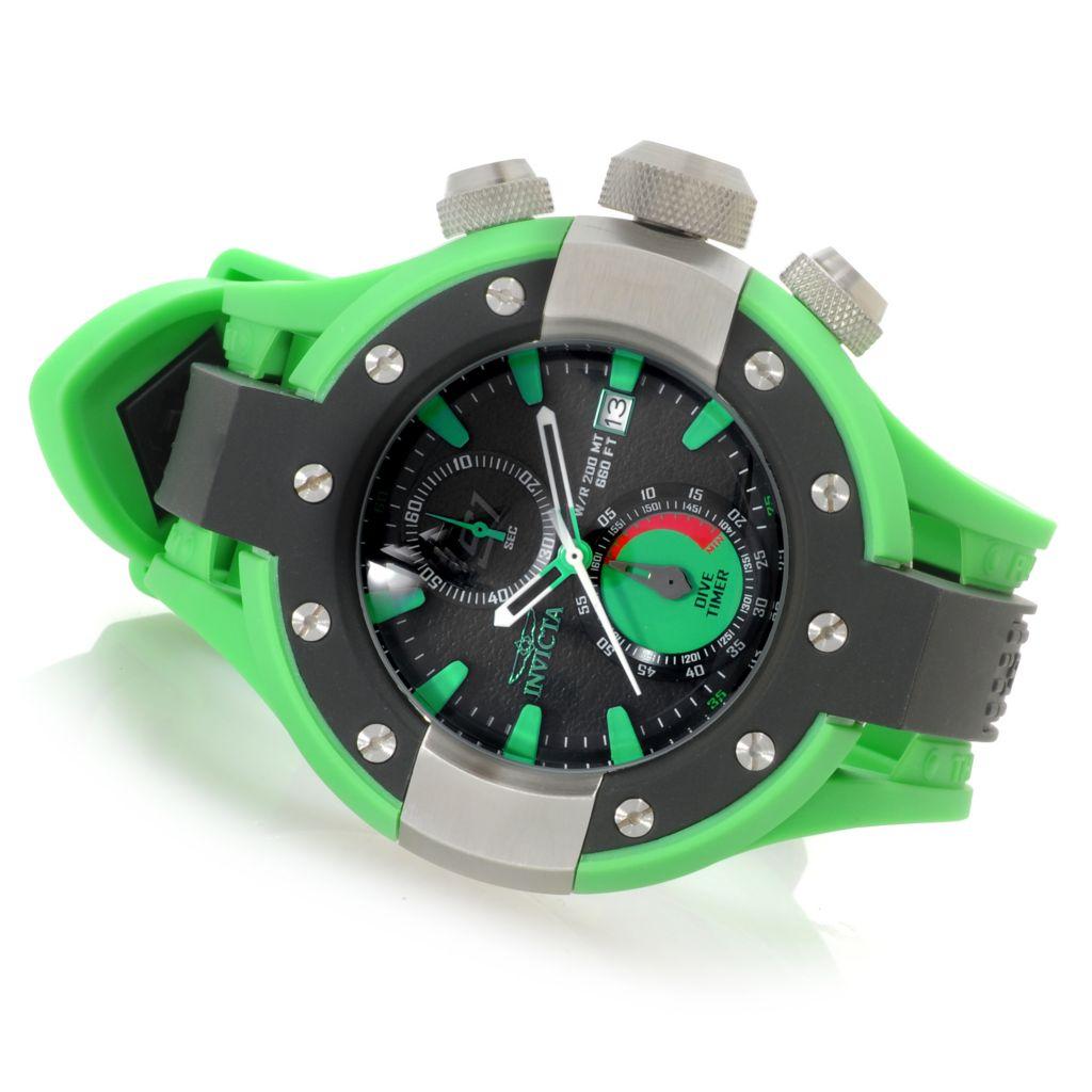 624-970 - Invicta Men's S1 Rally Quartz Chronograph Polyurethane Strap Watch w/ One-Slot Dive Case