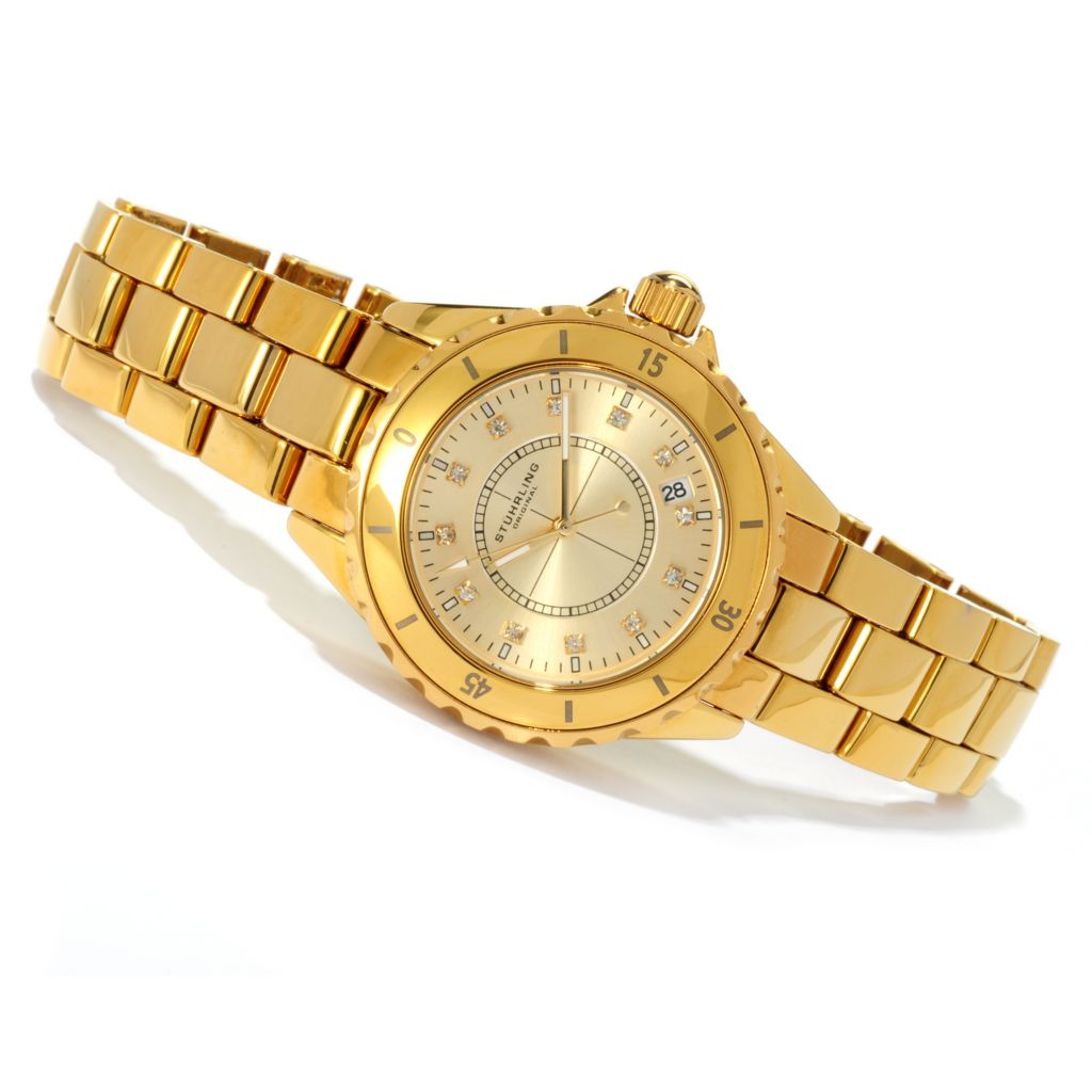 625-032 - Stührling Original 39.5mm or 34.5mm Divinity Bracelet Watch Made w/ Swarovski® Elements