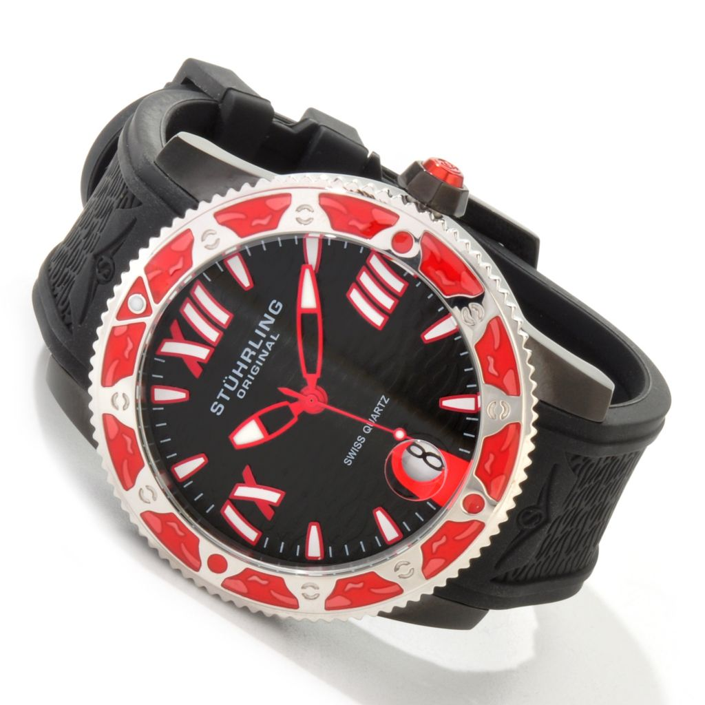 625-060 - Stührling Original 48mm Regatta Weekender Quartz Rubber Strap Watch