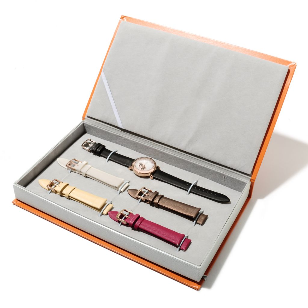 625-094 - Stührling Original Women's Amour Cupid Valentine Automatic Watch w/ Four Extra Straps