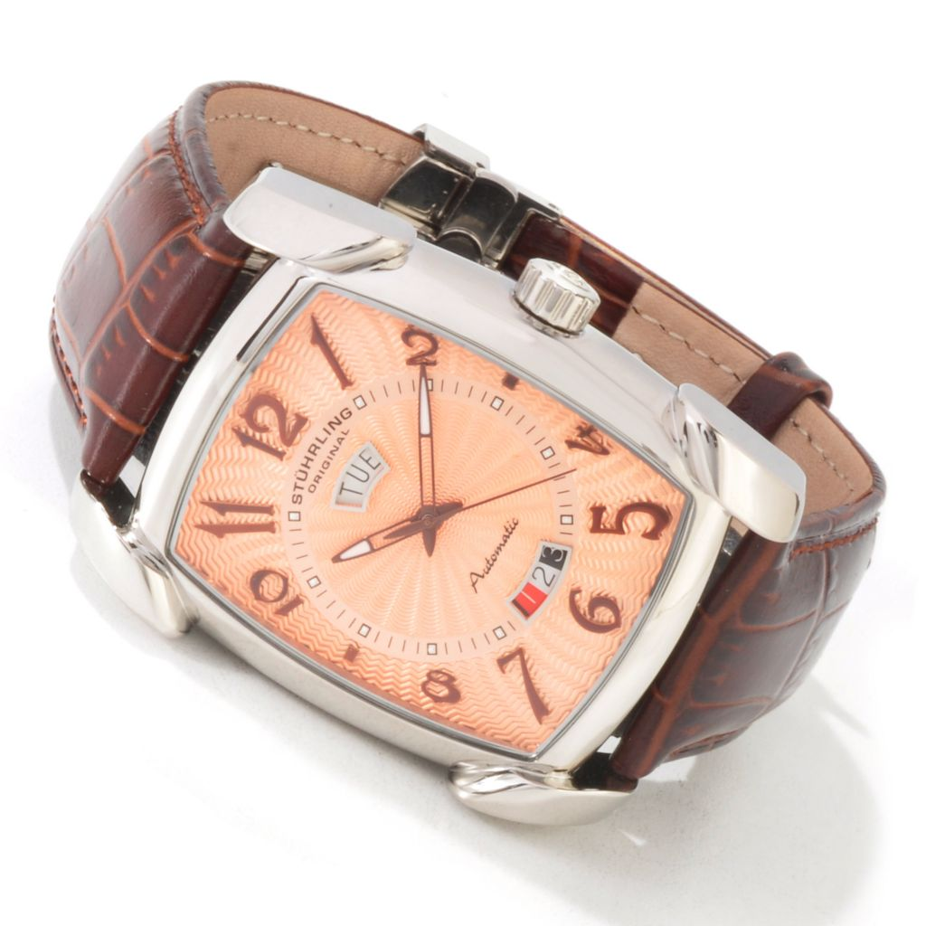 "625-112 - Stuhrling Original Men's ""The Madison"" Automatic Strap Watch"