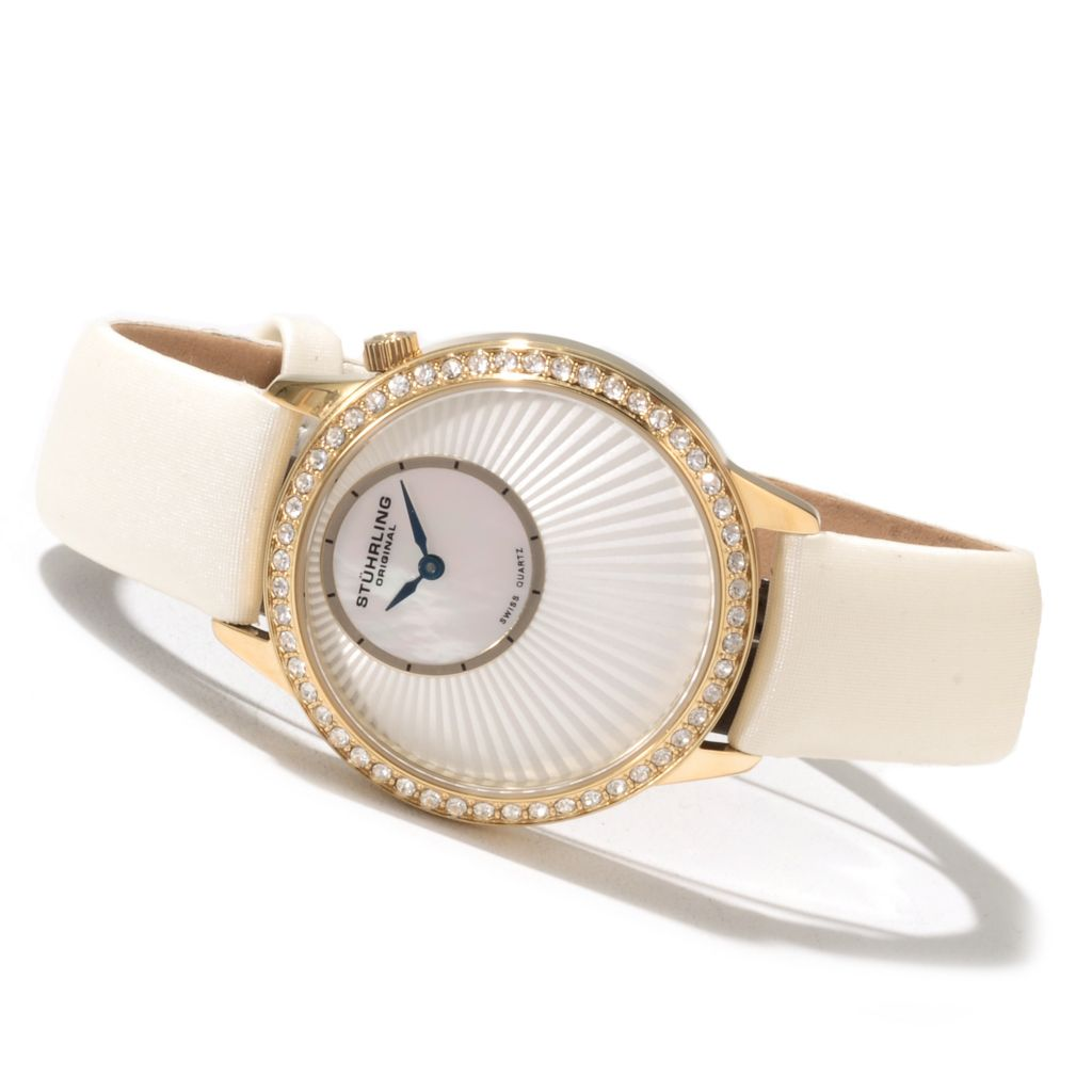 625-211 - Stührling Original Women's Radiant Strap Watch Made w/ Swarovski® Elements
