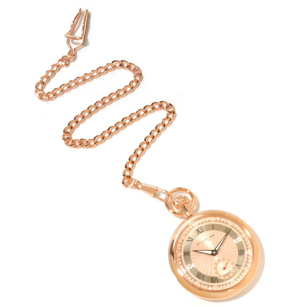625-214 - Stührling Original Men's Montres De Poche Colmar Mechanical Pocket Watch