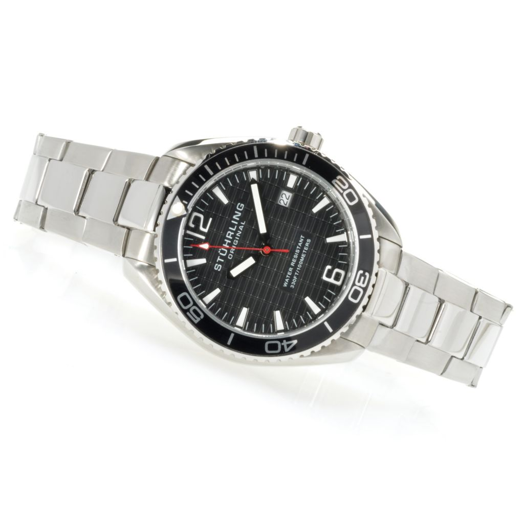 625-218 - Stührling Original 42mm Regatta Quartz Stainless Steel Bracelet Watch