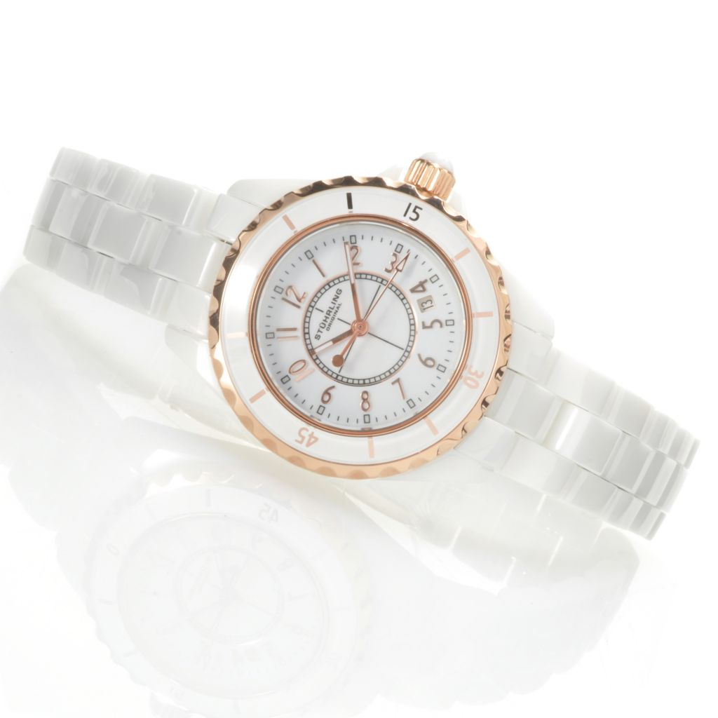 625-223 - Stührling Original Women's Glamour Quartz Ceramic Bracelet Watch
