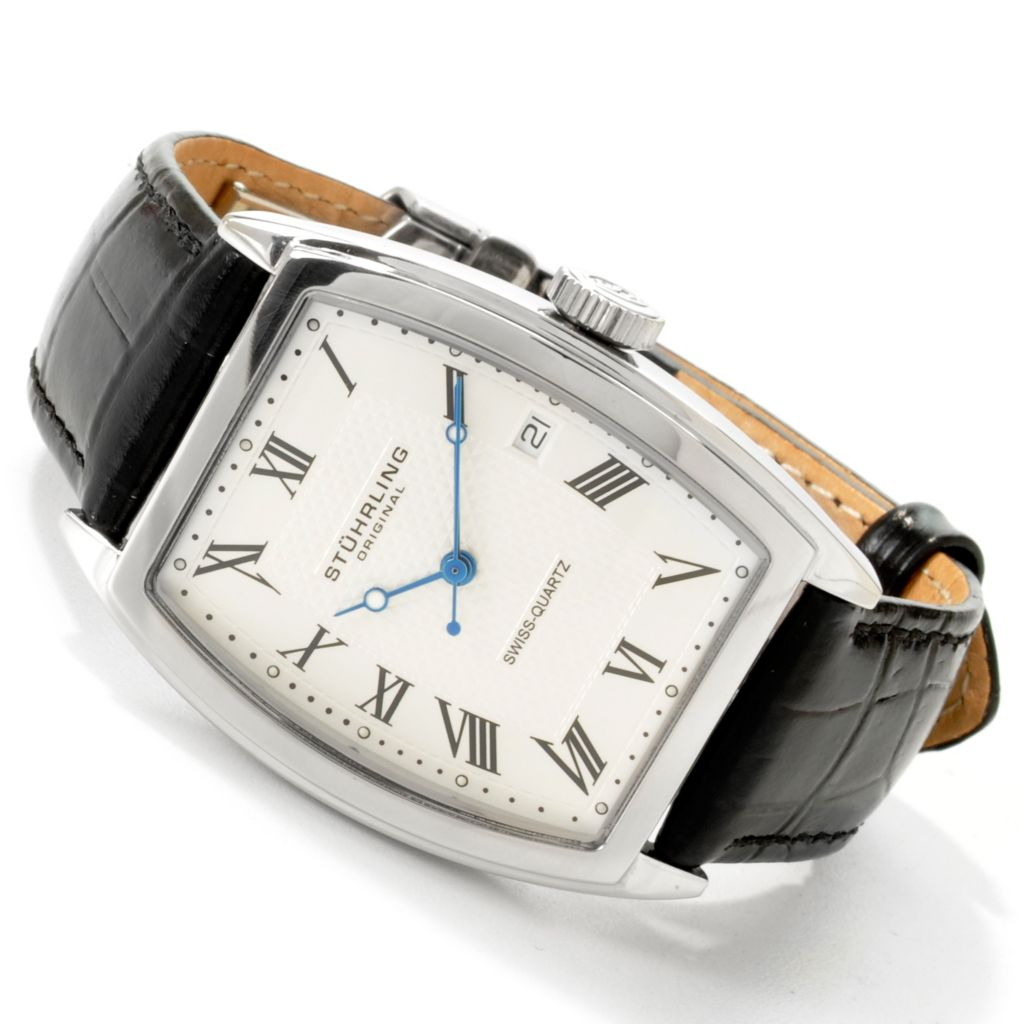625-233 - Stührling Original Women's Park Avenue Swiss Quartz Movement Leather Strap Watch
