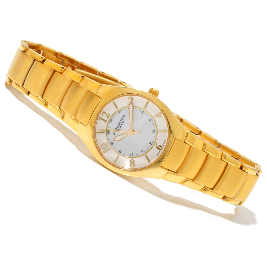 625-248 - Stührling Original Women's Regalia Stainless Steel Bracelet Watch