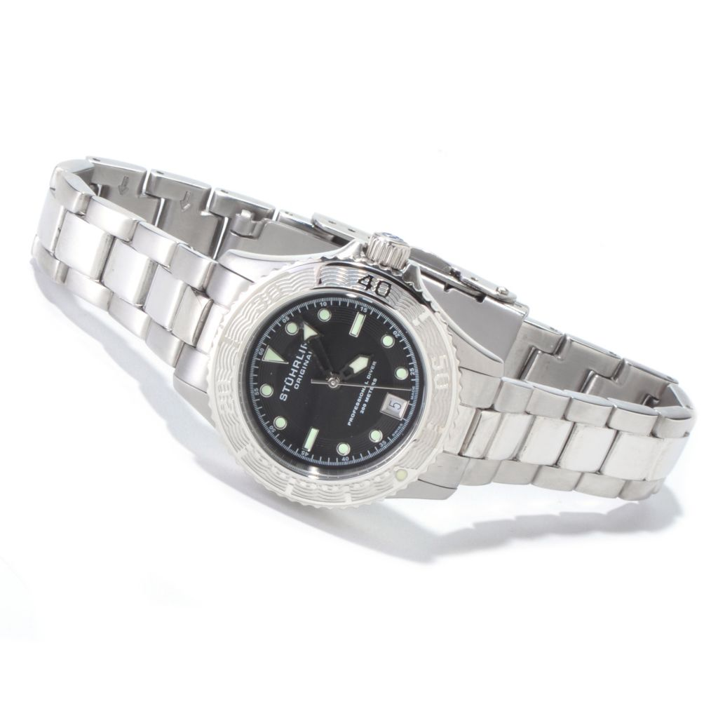 625-259 - Stührling Original Women's Lady Regatta Swiss Made Quartz Stainless Steel Bracelet Watch
