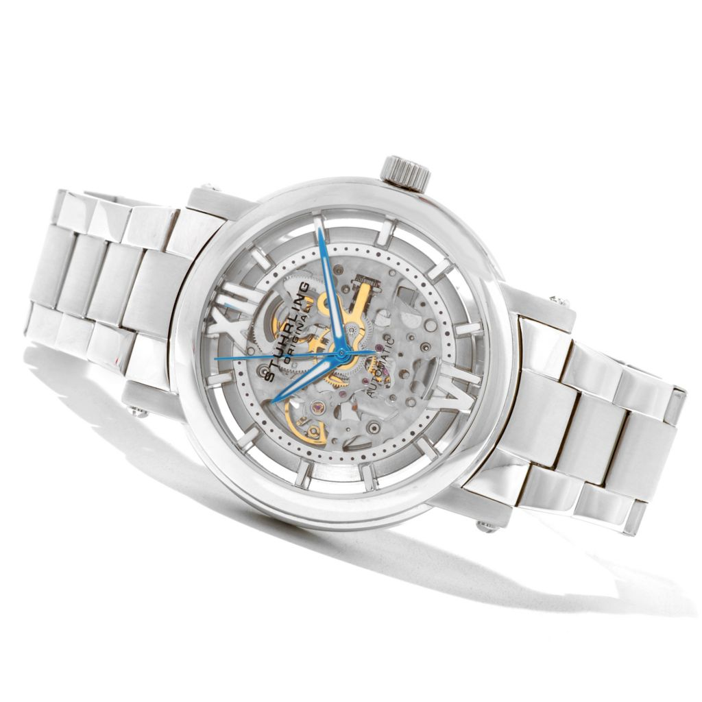 625-279 - Stührling Original Men's Winchester XT Automatic Stainless Steel Bracelet Watch
