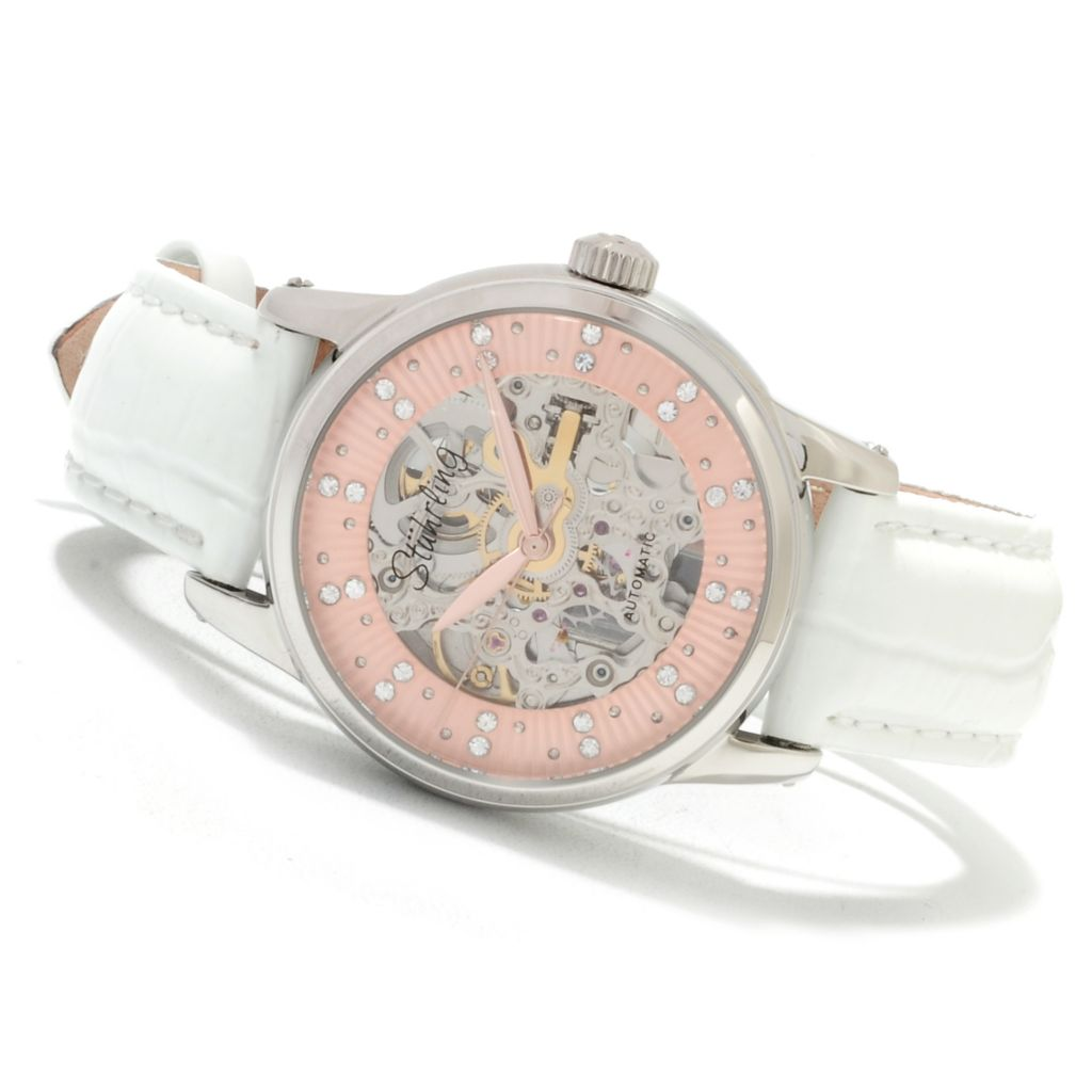 625-283 - Stührling Original Women's Audrey Stella Automatic Strap Watch Made w/ Swarovski® Elements