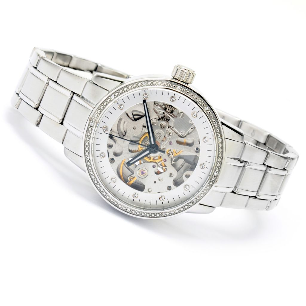 625-292 - Stührling Original Women's Lady Delphi Automatic Stainless Steel Bracelet Watch