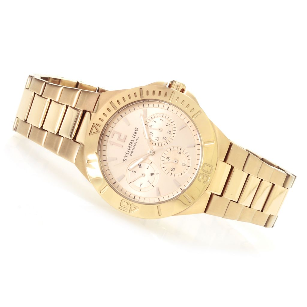 625-308 - Stührling Original Women's Lady Capital Quartz Stainless Steel Bracelet Watch