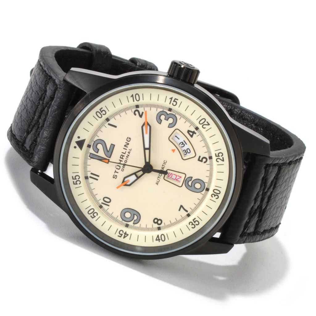 625-361 - Stuhrling Original 46mm Tuskegee Skymaster Automatic Watch