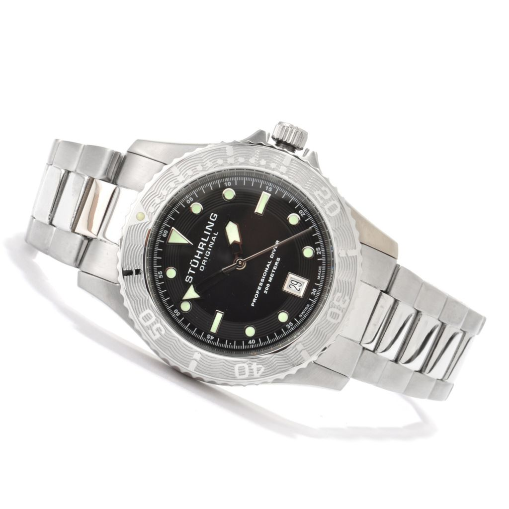 625-364 - Stührling Original 42mm Regatta Sailor Swiss Made Quartz Stainless Steel Bracelet Watch