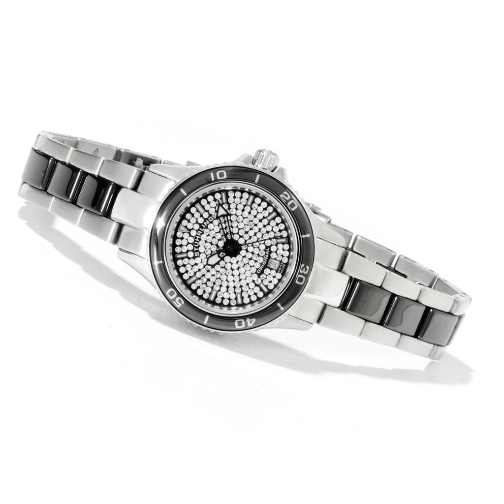 625-385 - Stührling Original Women's Astera Swiss Quartz Bracelet Watch Made w/ Swarovski® Elements