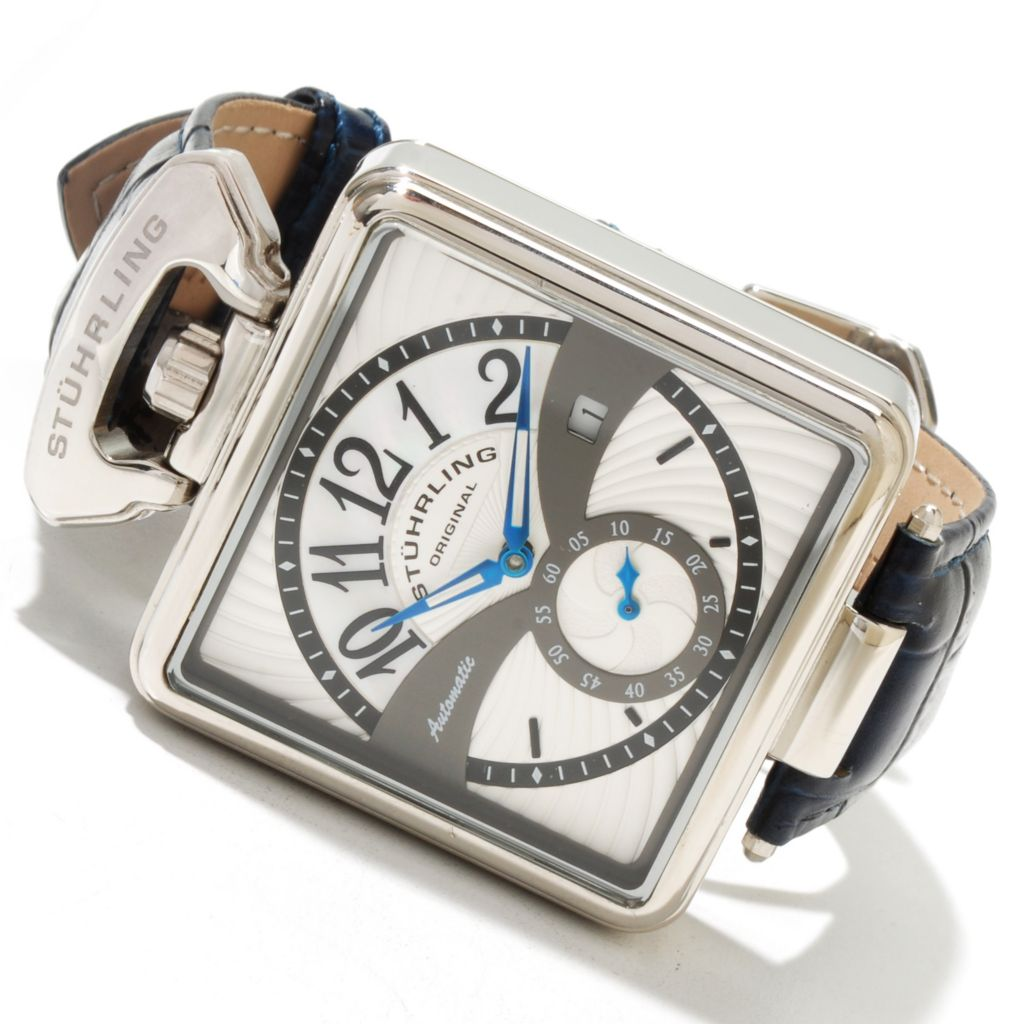 625-397 - Stührling Original Men's Special Reserve Castello Automatic Leather Strap Watch