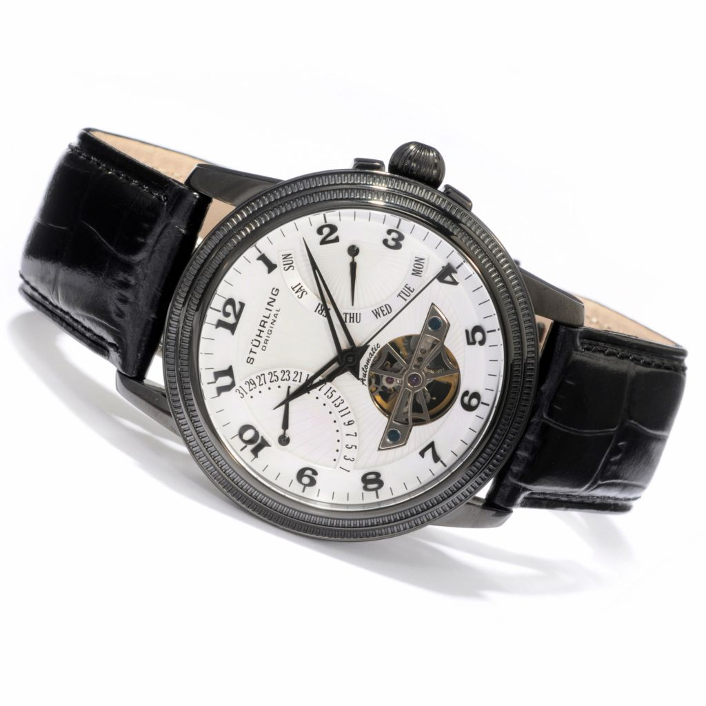 625-436 - Stuhrling Original 45mm Saturnalia Automatic Strap Watch
