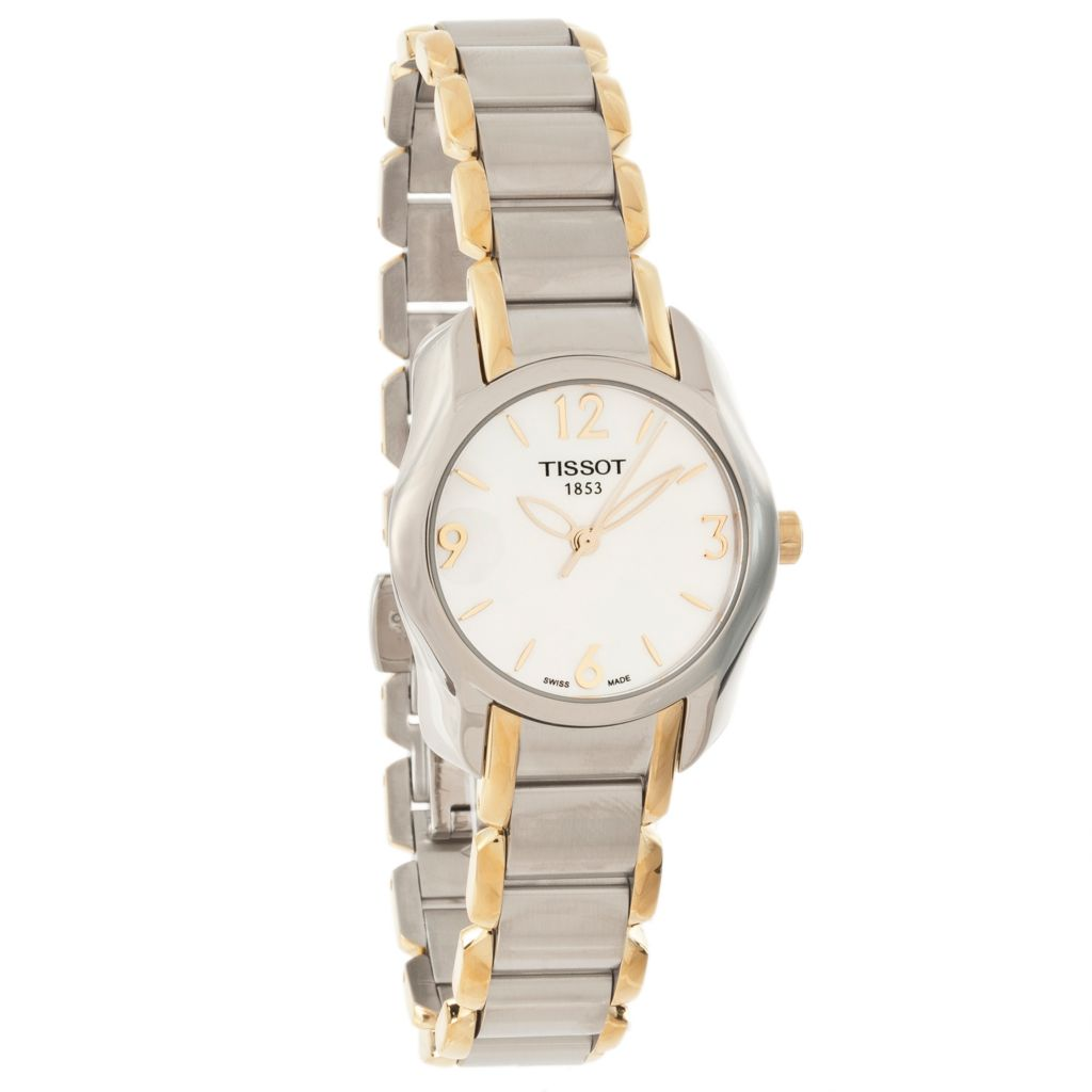 625-498 - Tissot Women's T-Wave Swiss Made Quartz Mother-of-Pearl Dial Stainless Steel Bracelet Watch