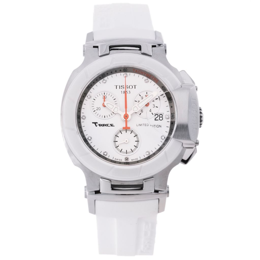 625-501 - Tissot Women's T-Race Swiss Quartz Chronograph Rubber Strap Watch