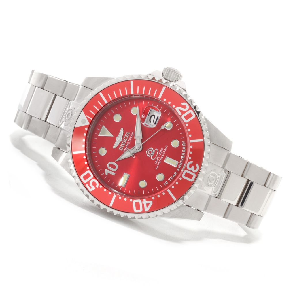 625-573 - Invicta 38mm or 47mm Grand Diver Anniversary Edition Automatic Watch w/ Eight-Slot Dive Case