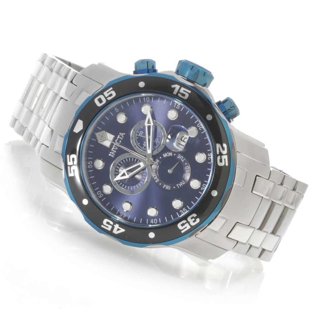 625-581 - Invicta 48mm Pro Diver Scuba Quartz Chronograph Stainless Steel Bracelet Watch