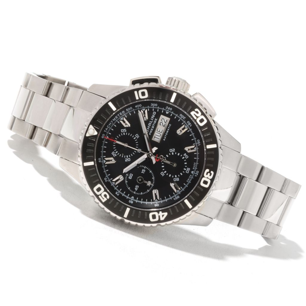 625-594 - Stührling Prestige Men's Regatta Swiss Made Valjoux 7750 Automatic Bracelet Watch