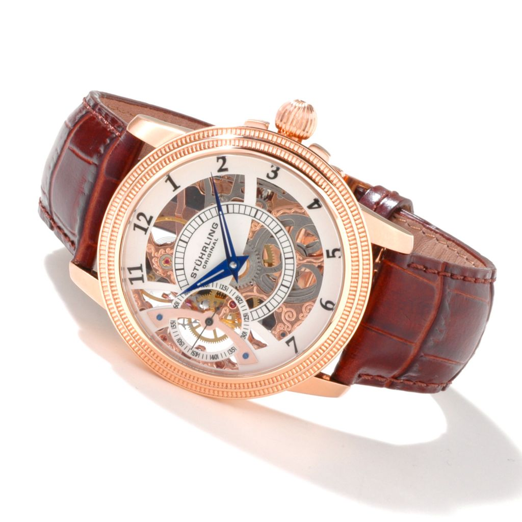 625-606 - Stuhrling Original Men's Brumalia Mechanical Strap Watch