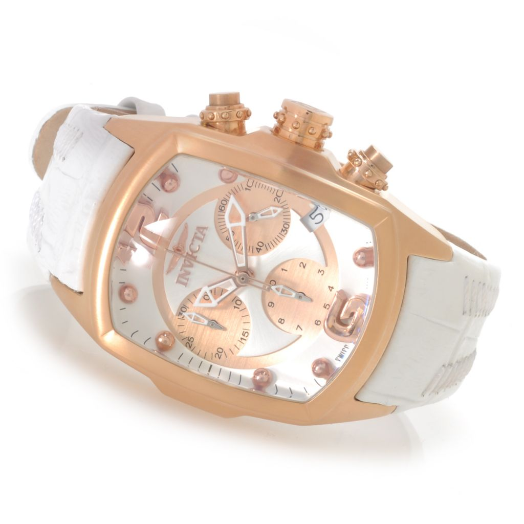 625-635 - Invicta Women's Lupah Revolution Swiss Made Quartz Chronograph Leather Strap Watch