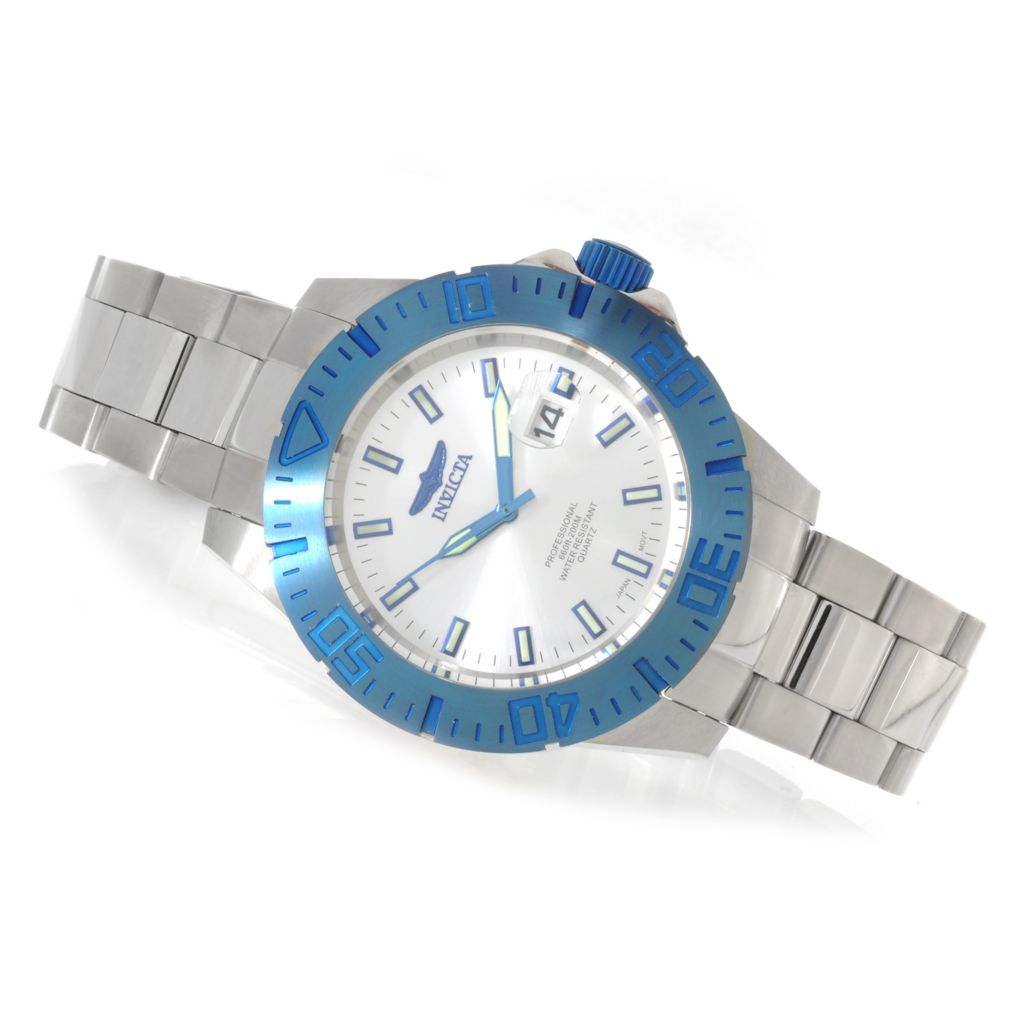 625-636 - Invicta 44mm Ocean Reef Quartz Stainless Steel Bracelet Watch